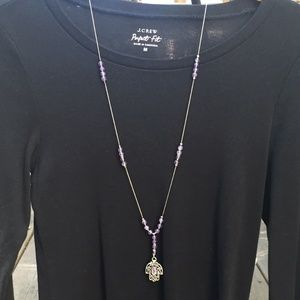 Jewelry - Genuine Amethyst/SS Y-Necklace